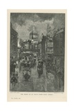 The Front of St Paul's Cathedral from Fleet Street Giclee Print by Joseph Pennell