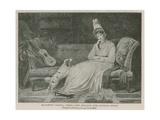 Elizabeth Vassall, Third Lady Holland Giclée-tryk af Louis Gauffier