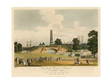 View of the Bridge and Pagoda, St James's Park, London, as Seen on 1 August 1814 Giclee Print by Augustus Charles Pugin