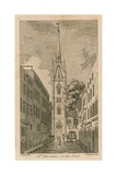 St Dunstan's in the East, London Giclee Print by Samuel Wale