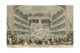 Inside View of the Theatre Royal, Drury Lane, London Giclee Print by Anthony van Assen