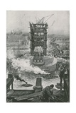 The Present State of the Tower Bridge Giclee Print