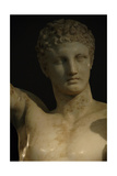 Greek Art. Hermes and Dionysus Child. Sculpture by Praxiteles. Greece Giclee Print