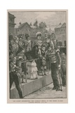 The Queen Distributing the Crimean Medal at the Horse Guards Parade Ground Giclee Print by William Heysham Overend