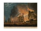 The Destruction of Both Houses of Parliament as Seen from Abingdon Street Giclee Print by Thomas Picken