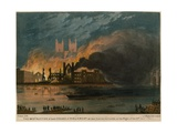 The Destruction of Both Houses of Parliament as Seen from the Surrey Side Giclee Print by Thomas Picken