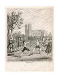 The Duel in Tothill Fields Giclee Print by George Cruikshank