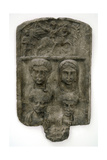 Thracian Culture. Marble Funerary Relief. Family Giclee Print