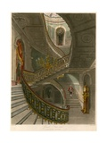 Grand Staircase, Carlton House, London Giclee Print by Charles Wild