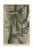 Behind the Clock-Dial, Big Ben and the Clock Tower, Westminster Palace Giclee Print by Charles Paul Renouard