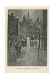 The Front of St Paul's Cathedral from Ludgate Hill Giclee Print by Joseph Pennell