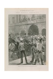 Departure of the Duke of York and His Bride from Buckingham Palace Giclee Print by Walter Wilson