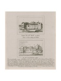 The Savoy in 1650 and as it Is at Present in 1792 Giclee Print by Wenceslaus Hollar