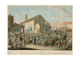 Representation of the Election of Members of Parliament for Westminster, 1818 Giclee Print by George The Elder Scharf