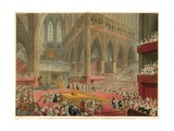 The Coronation of His Majesty George IV, Taken at the Time of the Recognition, 19 July 1821 Giclee Print by Francis Phillip Stephanoff