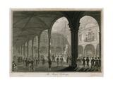 The Royal Exchange, London Giclee Print by Edward Pugh