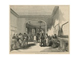 A Visit to Lloyds - the Insurance of Ships: Ship Auction in Lloyd's Captain's Room Giclee Print