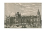 The New Hotel of the Midland Railway Station, Euston Road, London Giclee Print
