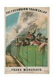 Musical Score: the Excursion Train Galop by Frank Musgrave Giclee Print by Alfred Concanen