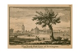 The North West View of Newington Giclee Print by Jean Baptiste Claude Chatelain