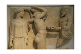 Eleven Labor. Hercules Holding the Sky, Aided by Athena as Atlas Holding the Golden Apples from… Giclee Print