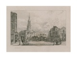 Church of St Leonard, Shoreditch Giclee Print by George Cooke