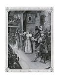 Women Appear on the Stage for the First Time: Othello, as Produced in December 1660 Giclee Print by Amedee Forestier