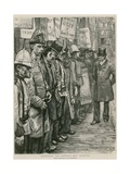 Recruiting the Sandwich Men: Accepted Giclee Print by Charles Paul Renouard