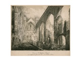View of St Stephen's Chapel as it Appeared after the Fire in October 1834 Giclee Print by Frederick Mackenzie