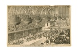 A View of Westminster Hall During the Banquet Given in Honor of the Coronation of King George Iv Giclee Print by Denis Dighton