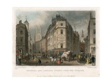 Cornhill and Lombard Street, London, from the Poultry Giclee Print by Thomas Hosmer Shepherd