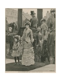 Arrivals for the Royal Garden Party at Marlborough House Giclee Print by William Heysham Overend
