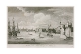A View of the Tower of London Taken Upon the River Thames Wydruk giclee autor John Boydell