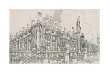 Union Jack Flags Flying from Selfridge's Department Store Giclee Print by  English Photographer