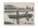Ballasting on the River Thames Giclee Print by Henry Robert Robertson