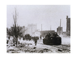 World War II (1939-1945). Battle of Stalingrad. Artillery into the City of Stalingrad. Ussr Giclee Print