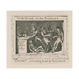 To Be Drunk on the Premises Giclee Print by George Cruikshank