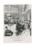 A Boxing Match at the National Sporting Club Giclee Print by Phil May