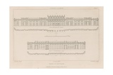 Bank of England, Sir John Soane's South Front, 1823 Giclee Print by Augustus Charles Pugin