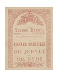 Advertising Card for the Lyceum Theatre, Dr Jekyll and Mr Hyde Starring Richard Mansfield Giclee Print