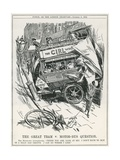 The Great Tram V. Motor-Bus Question Giclee Print by Frederick Henry Townsend