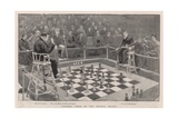 Colossal Chess at the Crystal Palace Giclee Print by Enoch Ward