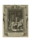 The Seven Bishops Presenting their Petition to King James II at St James's Giclee Print by Samuel Wale