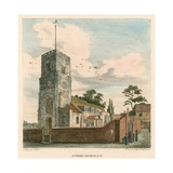 Putney Church, London Giclee Print by Charles Burton