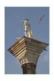Saint Theodore Statue, Patron of Venice, on a Granite Column in the Piazzetta. Venice. Italy Giclee Print