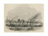 The Thames Regatta at Putney Bridge Giclee Print
