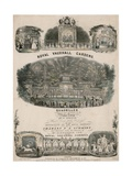 Musical Score for Royal Vauxhall Gardens Quadrilles by Charles F a Schmidt Giclee Print