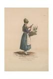 Marchande De Bouquets De Cerises Giclee Print by Carle Vernet