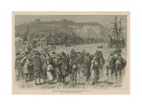 The Huguenots in England: French Huguenot Refugees Landing at Dover in 1685 Giclee Print by Godefroy Durand