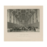 Benches and Members 'taking Commons' in Middle Temple Hall Giclee Print by Thomas Hosmer Shepherd